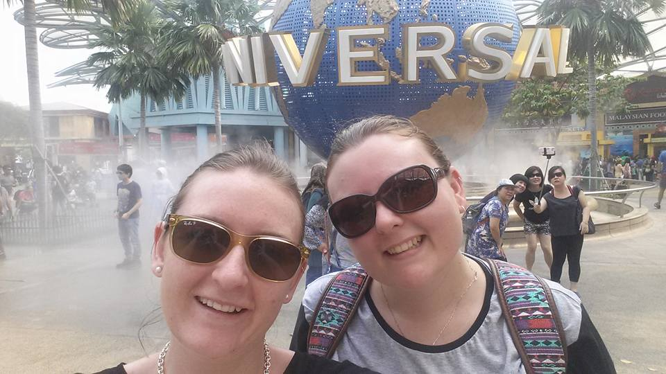 Obligatory Selfie in front of the Universal Globe