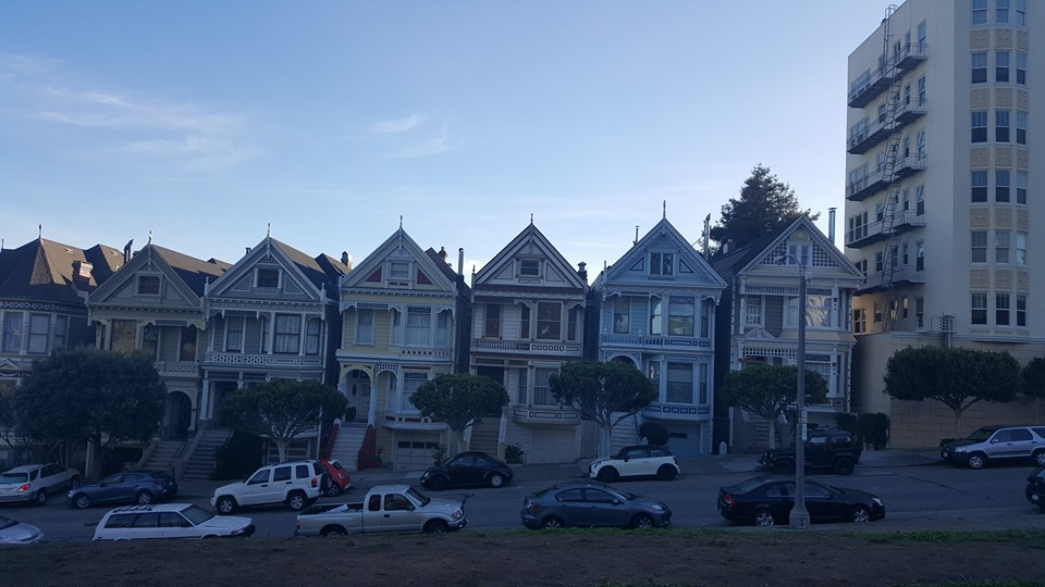 The painted ladies. This is in the morning, visit in the afternoon for the best light.