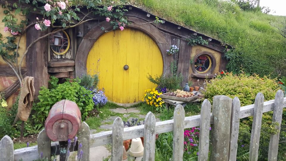 """In a hole in the ground there lived a Hobbit"" Hobbiton Movie set"